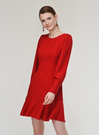 Nenuphar Atelier Elbise Kırmızı